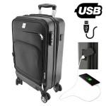 Βαλίτσα Καμπίνας ABS με Θύρα USB, Ροδάκια, Κλειδαριά & Θήκη για Laptop Smart Business