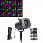 Νυχτερινός Διακοσμητικός Γιορτινός Φωτισμός με 12 Θέματα - Star Laser Slides Projector