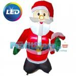 Φουσκωτός Άγιος Βασίλης 90cm με Εντυπωσιακό Φωτισμό LED