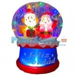 Μεγάλη Φουσκωτή Χριστουγεννιάτικη Χιονόμπαλα 65εκ. με Εφέ Χιονιού και Φωτισμό 92024