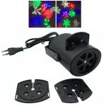 Νυχτερινός Διακοσμητικός Γιορτινός Φωτισμός με 2 Θέματα - Star Laser Slides Projector