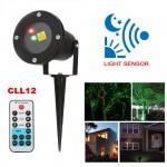 Νυχτερινός Γιορτινός Φωτισμός με Αισθητήρα Φωτός & Τηλεχειρισμό - Star Sensor Laser CLL12