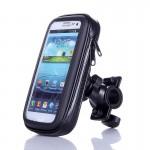 Αδιάβροχη Βάση - Θήκη  Μηχανής-Ποδηλάτου για Κινητά, Smartphone, GPS & iPhone έως 6,5in