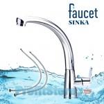 Μπαταρία Νεροχύτη Πάγκου Αναμεικτική - Faucet Sinka 100
