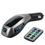 Πομπός Αυτοκινήτου Fm Αναμεταδότης Bluetooth & Φορτιστής USB, SD, AUX με Τηλεχειριστήριο