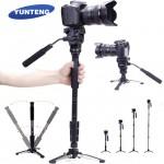 Επαγγελματικό Πτυσσόμενο Μονόποδο 145cm & Τρίποδο για Φωτογραφική Μηχανή