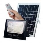 Αδιάβροχος Ηλιακός Προβολέας 100W με Φωτοβολταϊκό Πάνελ, Τηλεκοντρόλ και Χρονοδιακόπτη