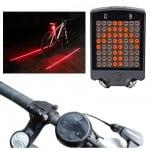 Επαναφορτιζόμενο Ασύρματο Φως Ποδηλάτου με Φλας, LED & LASER - Wireless Bicycle Turn Light