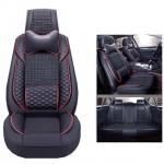 Πλήρες Σετ - Pu Leather Ανατομικά Καλύμματα Καθισμάτων Αυτοκινήτου 11 Τεμάχια DR-8010-BL
