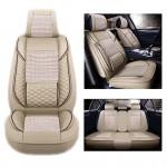 Πλήρες Σετ - Pu Leather Ανατομικά Καλύμματα Καθισμάτων Αυτοκινήτου 11 Τεμάχια DR-8010-ΒΖ