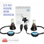 Φώτα Αυτοκινήτου CREE LED Kit H4 G5 8000LM - 6000Κ - 80W - CAN BUS
