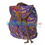 Γυναικεία Τσάντα - Σακίδιο Πλάτης Boho Style 24 x 30 εκ 7788 BLUE