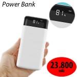 Υψηλής Απόδοσης Power Bank 23.800mAh - 2x2,1A USB με Οθόνη & Φακό LED