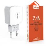 Αντάπτορας Φορτιστής Ρεύματος LDNIO 2.4 A με 2 Θύρες USB