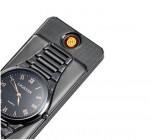 Αντιανεμικός USB Επαναφορτιζόμενος Αναπτήρας Πυράκτωσης Ρολόι - USB Lighter