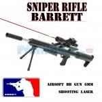 Αεροβόλο Όπλο Μοντελισμού Τύπου Barrette Sniper Rifle με Διόπτρα & Laser 1066