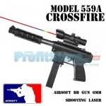 Αεροβόλο Όπλο Μοντελισμού Ημιαυτόματου Τύπου Crossfire με Διόπτρα & Laser Στόχευσης