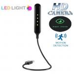 Φωτιστικό LED & Κρυφή Wifi IP Ασύρματη Κάμερα HD Καταγραφής με Ανίχνευση Κίνησης & Νυχτερινή όραση