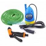Σετ Πιεστικού για Πλύσιμο με Αντλία 12volt, 10 Μέτρα Λάστιχο και  Πιστόλι - Water Pump Gun Chejieba
