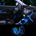 Εύκαμπτο LED Καλώδιο 3m - Φωτιζόμενη Ταινία για την Εσωτερική Διακόσμηση κάθε Αυτοκινήτου - Μπλε