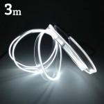 Εύκαμπτο LED Καλώδιο 3m - Φωτιζόμενη Ταινία για την Εσωτερική Διακόσμηση κάθε Αυτοκινήτου - Άσπρο