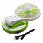 Μίνι Φορητός Επαναφορτιζόμενος Ανεμιστήρας Φωτιστικό LED Γραφείου Portable Rechargeable Fan with Light