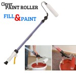 Επαναστατικό Σετ Βαψίματος Κοντάρι Πίεσης Clever Paint Roller 650ml με Τεχνολογία Ομοιόμορφης Ροής - Δεν στάζει δεν λερώνει.