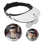 Γυαλιά - Μεγεθυντικός Φακός Κεφαλής  με 5 Φακούς Zoom & Φωτισμό LED
