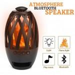 Ασύρματο Bluetooth Ηχείο & Φωτιστικό με Εφέ Φλόγας Κεριού - Multimedia Speaker, TF/MP3 Player BTS-596