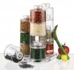 Διάφανα Βαζάκια Μπαχαρικών σε Σχήμα Πύργου - Spice Tower Carousel Jar