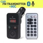 Ασύρματος Πομπός Bluetooth USB, SD MP3 Player & Φορτιστής USB Αυτοκινήτου με Μικρόφωνο Handsfree & Τηλεχειριστήριο - Car FM Transmitter