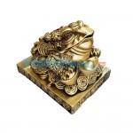 Βάτραχος Αφθονίας και Πλούτου σε πλίνθο 20x15x17 cm