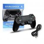 Ενσύρματο Χειριστήριο Doubleshock για PS4 Μαύρο OEM