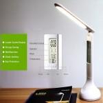 Επαναφορτιζόμενο USB LED Φωτιστικό Γραφείου Αφής & LCD Display με Ένδειξη Ώρας, Ημερομηνίας & Θερμοκρασίας