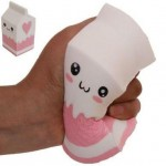 Παιχνίδι Squishy Ανακούφισης Στρες Jumbo Squishies Antistress Toys - Pink Milk Bottle Box