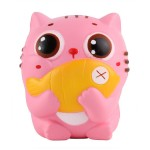 Παιχνίδι Squishy Ανακούφισης Στρες Jumbo Squishies Antistress Toys - Cat Eat Fish