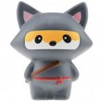 Παιχνίδι Squishy Ανακούφισης Στρες Jumbo Squishies Antistress Toys - Ninja Grey Fox