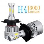 Εμπρόσθια Φώτα - Λαμπτήρες 16000LM Αυτοκινήτου LED COB H4 (2 x 8000LM) & 72W (2x36w)