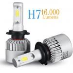 Εμπρόσθια Φώτα 16000LM - Λαμπτήρες Αυτοκινήτου LED COB H7 (2 x 8000LM) & 72W (2x36w)
