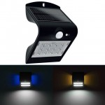 Αδιάβροχο Διπλό Ηλιακό Φωτιστικό Led με Αισθητήρα Κίνησης & Φωτός / Φωτοκύτταρο - Smart Led Solar Wall Light