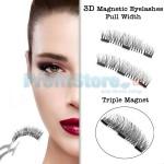 Μαγνητικές Ψεύτικες Βλεφαρίδες Πλήρους Μεγέθους Τριπλού Μαγνήτη - 3D Full Width Magnetic Eyelashes Extension