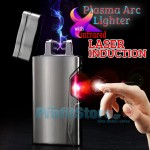 Αντιανεμικός X Arc Αναπτήρας Διπλής Ακτίνας με Laser Ανάφλεξης - Double Plasma Arc Lighter USB