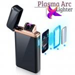 Αντιανεμικός X Arc Αναπτήρας Διπλής Ακτίνας με Διακόπτη Αφής - Double Plasma Arc Touch Lighter USB