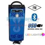 Φορητό Ασύρματο Ηχείο - Ηχοσύστημα Bluetooth LED USB/SD/AUX, MIC In Καραόκε & FM Radio - Multimedia Player