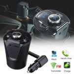 Ασύρματος Πομπός Αυτοκινήτου 12V & 24V Bluetooth με AUX, USB, MicroSD & Διπλός Φορτιστής USB - MP3 Player Car FM Transmitter