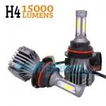 Τριπλοί Λαμπτήρες Φώτα Αυτοκινήτου - Λάμπες LED H4 15.000LM COB Διπλής Σκάλας