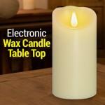 Διακοσμητικό Κερί Μπαταρίας με LED Εφέ Φλόγας 7.5 x 17.5cm - Electronic Wax Candle