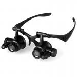 Γυαλιά - Μεγεθυντικός Φακός Κεφαλής με Ζουμ 23x & Φωτισμό LED & Ρυθμιζόμενο Σκελετό - Watch Repair Magnifier