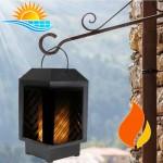 Ηλιακό Φανάρι / Φωτιστικό LED με Εφέ Αληθινής Φλόγας - Flame Latern Lamp
