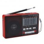 Μινι Φορητό Επαναφορτιζόμενο Bluetooth Ραδιόφωνο USB/SD Mp3 Player Multimedia Speaker, FM/AM Radio & Φακός LED